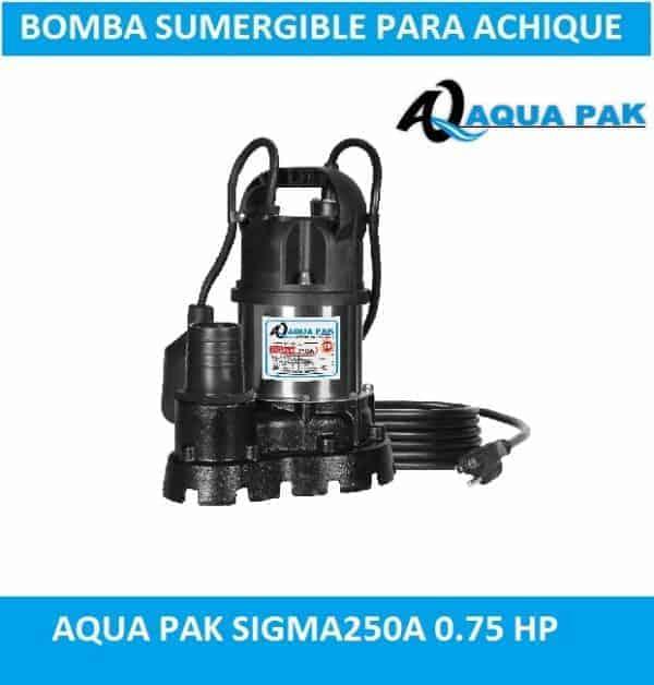 bomba para achique Aqua Pak SIGMA250A