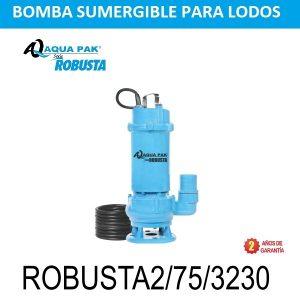 Bomba sumergible para lodos ROBUSTA2, 7.5 HP, 3 F, 230 V