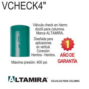 Válvula-check-vertical-para-columna-hierro-ductil-Altamira-VCHECK4-4-pulg.-400-PSI