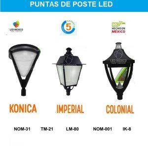 Puntas de poste LED